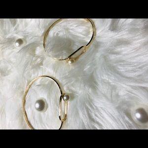 ❤️Gold faux pearl bracelet set❤️